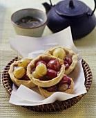 Spicy gooseberry tartlets with garam masala