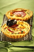 Two mussel tarts