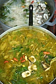 Cambodian curried fish soup with chilli