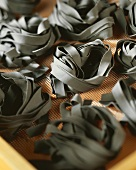 Black squid ink ribbon pasta