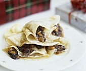 Crêpes with festive mincemeat filling