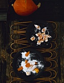Fruit sweets: candied pumpkin with vanilla and lemon grass