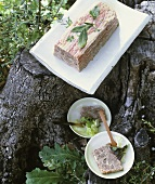 Duck and veal terrine with bacon