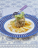 Tartare of marinated charr on fried potatoes