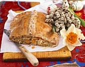 Pirog with sauerkraut filling for Easter