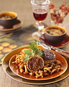 Tournedos of duck with chanterelles