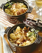 Potato and sauerkraut stew with pork roulades