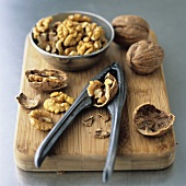 Walnuts with nutcrackers