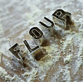 Cutters spelling the word 'Flour'