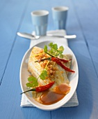 Hot and sour sole with tamarind sauce