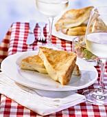 Mozzarella in carrozza (Fried mozzarella sandwiches, Italy)