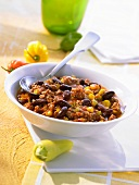 A small bowl of chili con carne