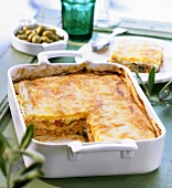 Turkish vegetable pie with puff pastry