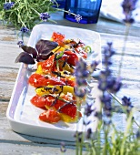 Grilled pepper salad with anchovy vinaigrette