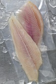 Fillet of pangasius & fillet of tilapia, both vacuum-packed
