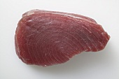 A slice of raw tuna fillet