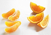 Orange wedges and orange segments
