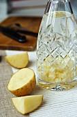 Potato in water, old household remedy for cleaning a carpet