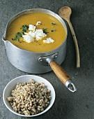 Pumpkin soup with buckwheat