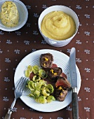 Medallions of chamois with Brussels sprouts & orange butter