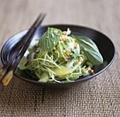 Salad of pomelo, Thai basil, green papaya and peanuts