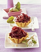 Small red onion tarts
