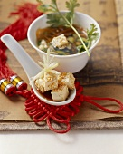 Chinese vegetable soup with tofu