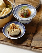 Baozi (Chinese dumplings) and steamed meatballs