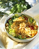 Mixed vegetables with buttered breadcrumbs