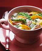 Cabbage soup with beef and vegetables