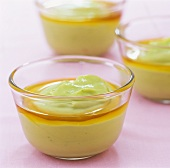 Avocado and lime cream with maple syrup