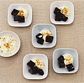 Espresso jelly with Sambuca cream