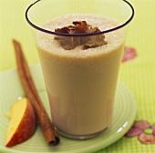 Chocolate and peach shake