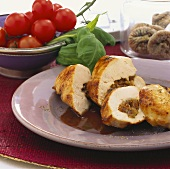 Chicken breast with fig and Gorgonzola stuffing
