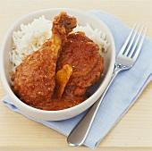 Paprika chicken (Austria) with rice