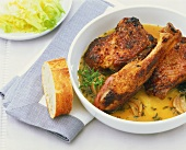 Duck legs with honey and thyme