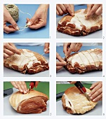 Scoring pork rind