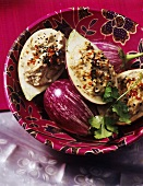 Aubergine puree with sesame seeds