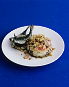 Crumble à la Provence with sardines