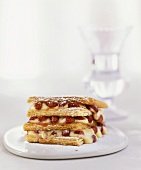 Napoleon pastry (mille-feuille with wild strawberries & custard)