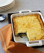 Spinach bake in the baking dish