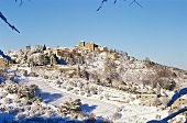 Snow-covered Tuscan landscape