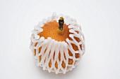 A granadilla in a net packaging
