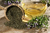 Thyme tea and thyme (fresh and dried)