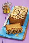 Almond and honey cake, sliced
