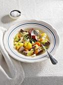 Turnip stew with pork belly