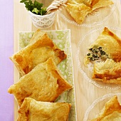 Puff pastry parcels filled with minced beef