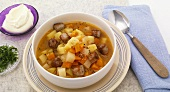 Potato stew with sausages