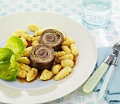 Beef roulade with potato gnocchi
