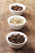 Cloves, caraway and allspice